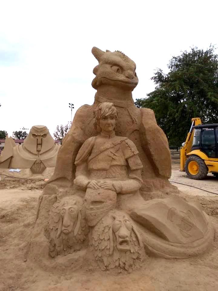 Пясъчни скулптури в Бургас-4