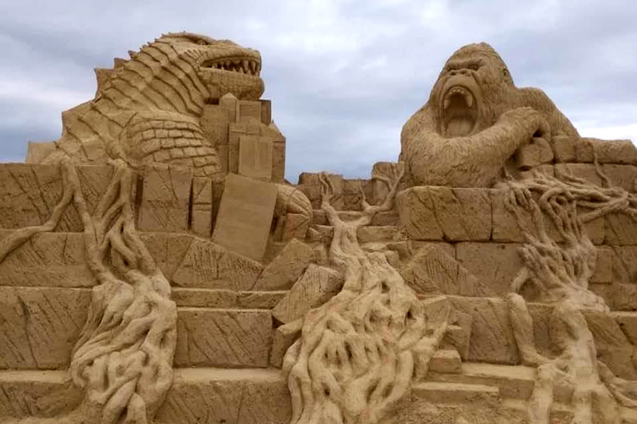 Пясъчни скулптури в Бургас-9
